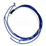 10-BLUE 10HP Wire Harness, (1/4^ Eye Terminal)
