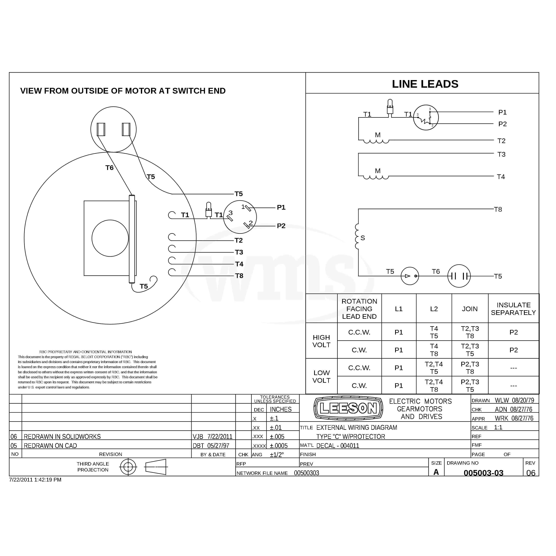 110087 00 3  4hp Leeson Farm Duty Electric Motor
