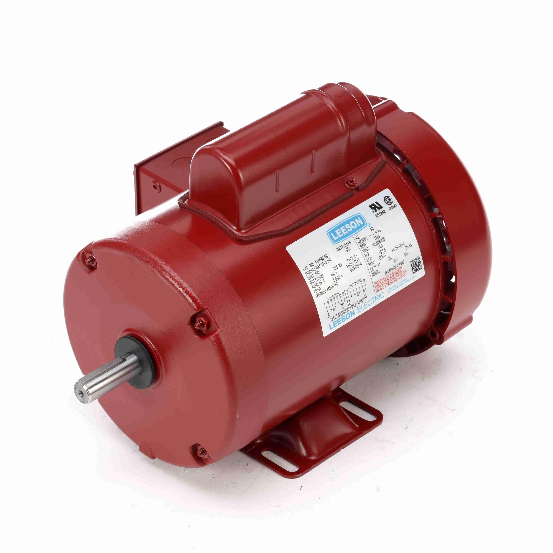 1hp leeson farm duty electric motor for Farm duty electric motor