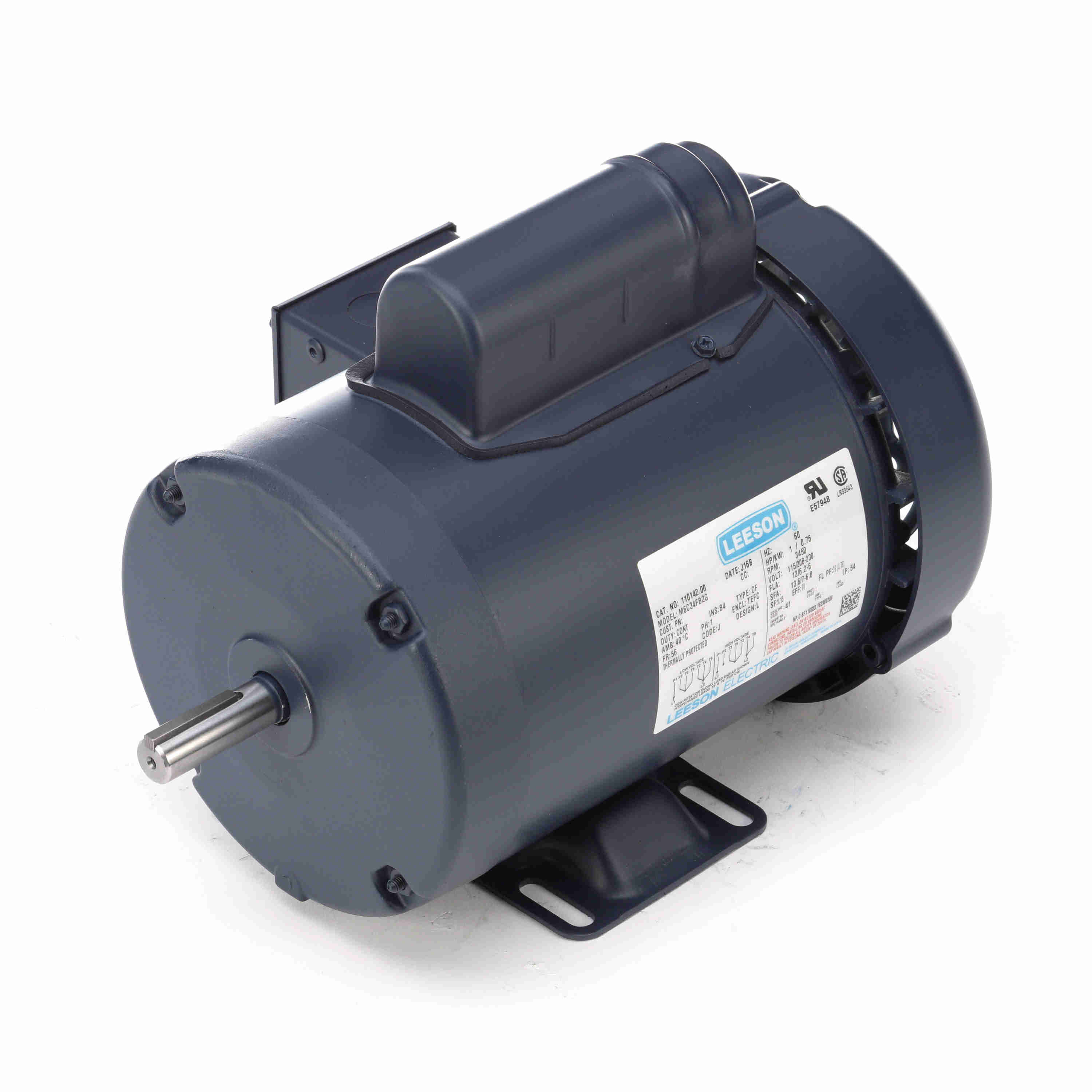 """3600RPM,TEFC 56C 5//8/"""" 3 Phase 230//460V 2HP Electric General Purpose Motor"""