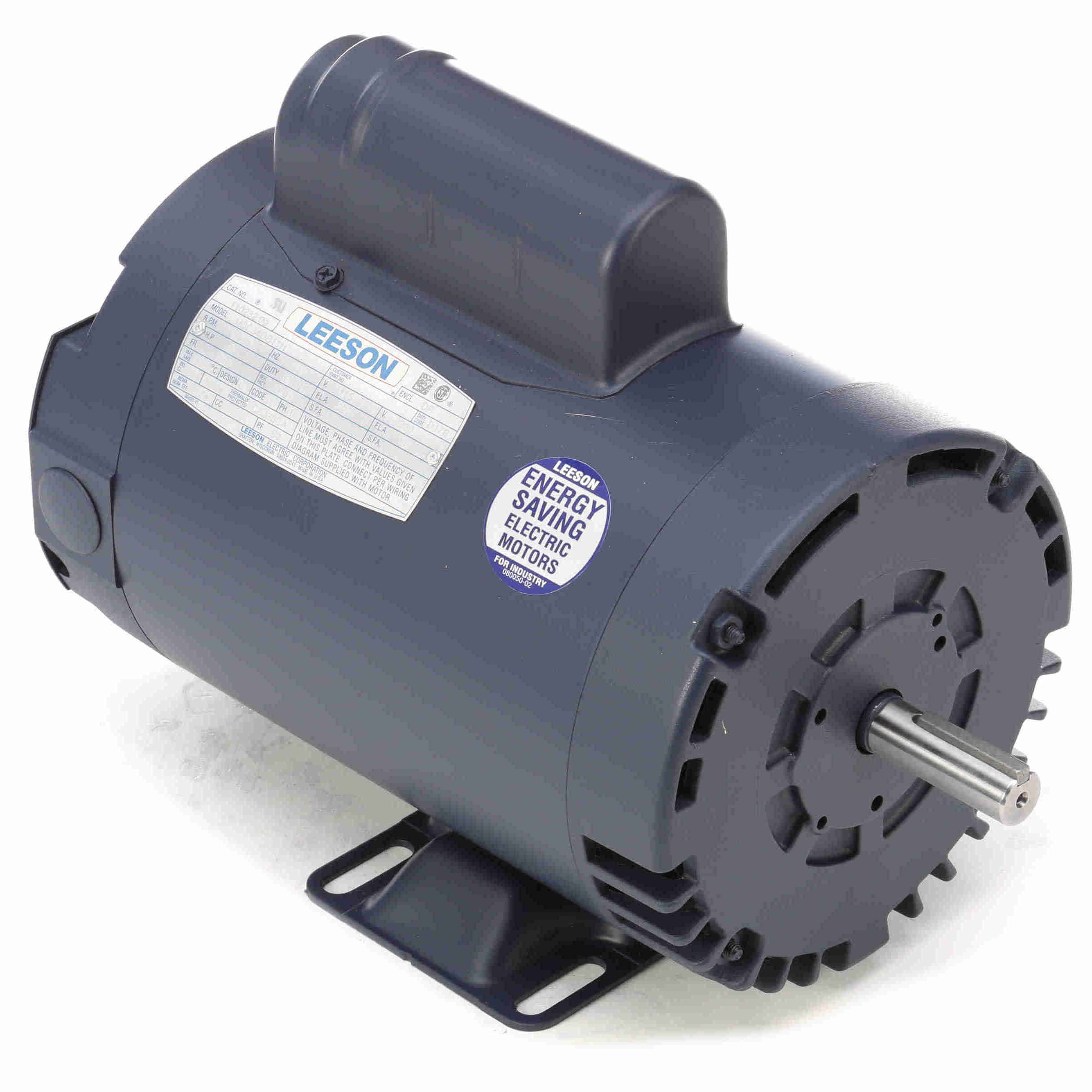 110232 00 leeson 2hp electric motor, 3450rpm 1