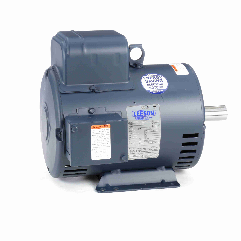 131537 00 Leeson 5HP Electric Motor, 1800RPM