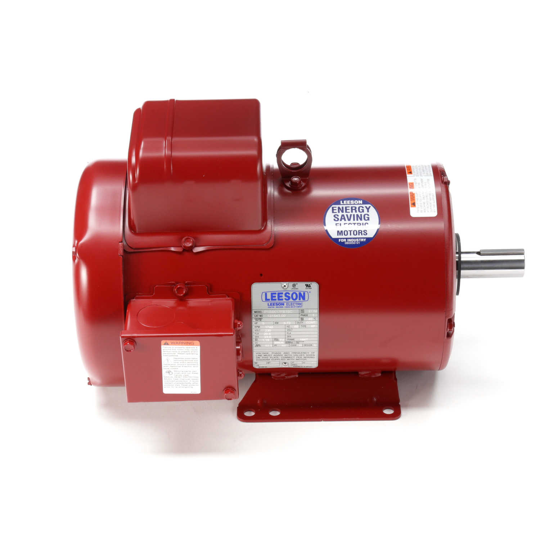 5hp leeson farm duty electric motor for Farm duty electric motor
