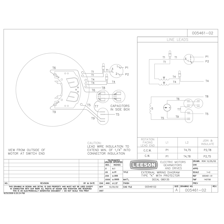 140414.00 10HP Leeson Ag Duty Electric Motor