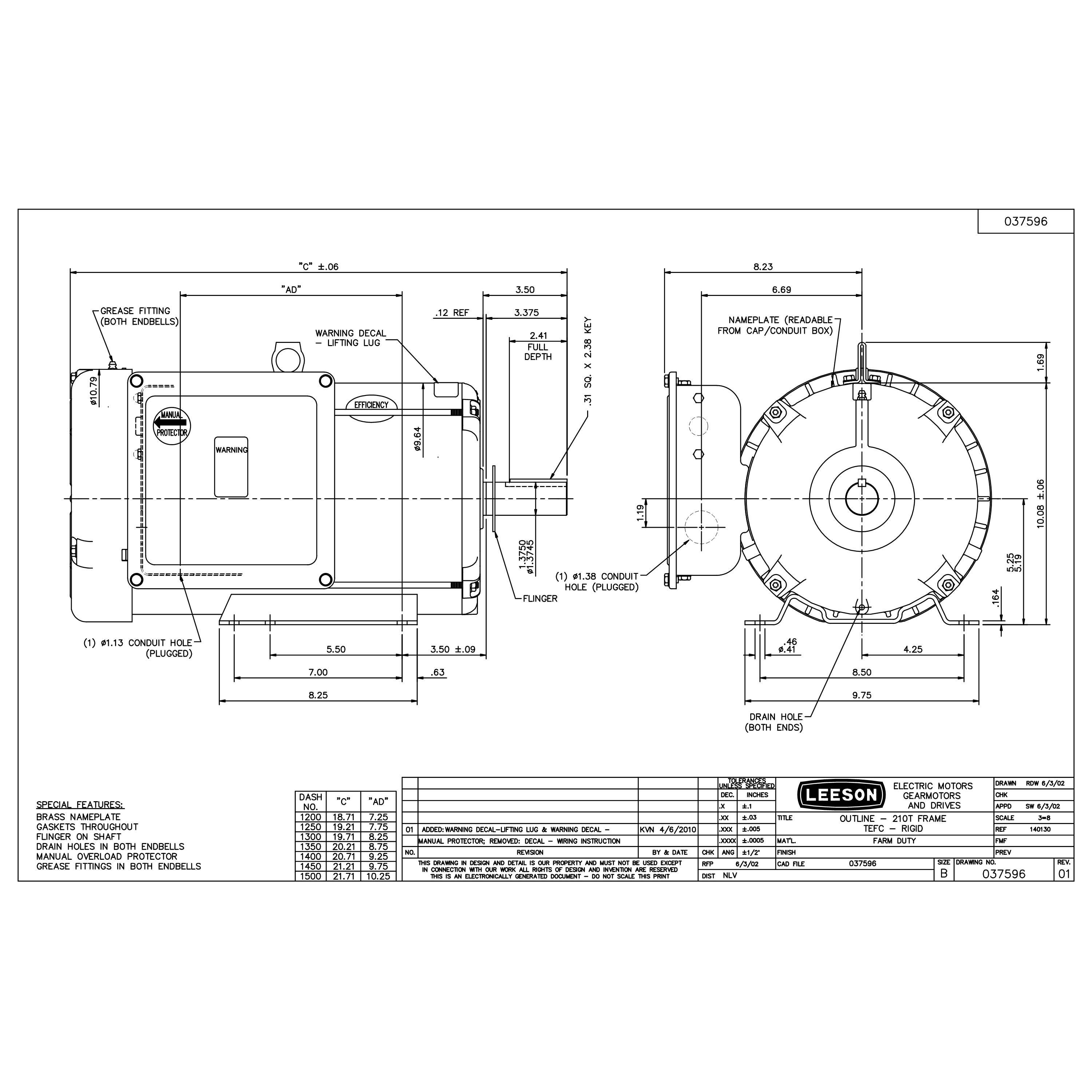 Leeson 3 Phase Motor Wiring Diagram from www.witmermotorservice.com
