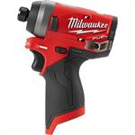 2553-20 Milwaukee M12 FUEL™ 1/4^ Hex Impact Driver
