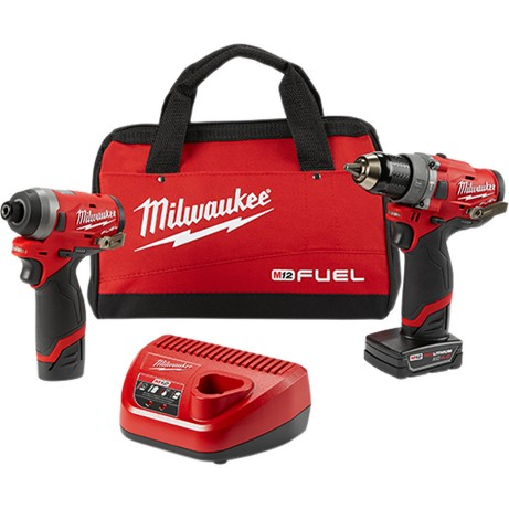 2598-22 Milwaukee M12 FUEL™ 2-Tool Combo Kit