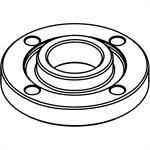44-40-0035 Milwaukee Flange Nut, 5/8^-11