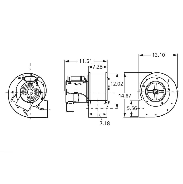 A1200 Fasco Centrifugal Blower Electric Motor, 1500/1400RPM