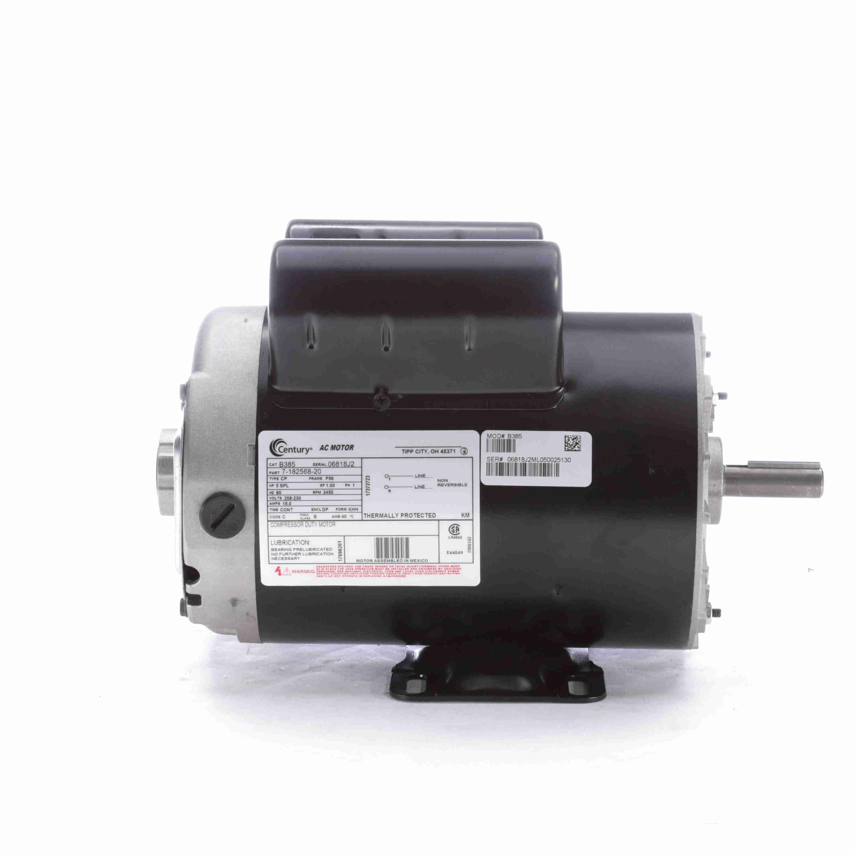 B385 Century 5hp Compressor Duty Electric Motor  3450 Rpm