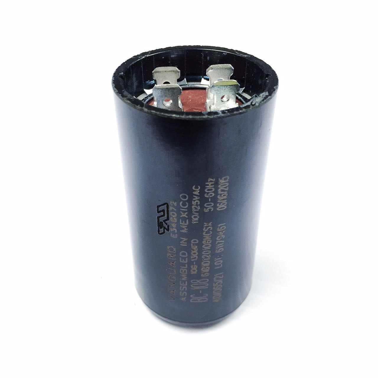 BC-108 Vanguard Start Capacitor, Mfd 108-130 uF