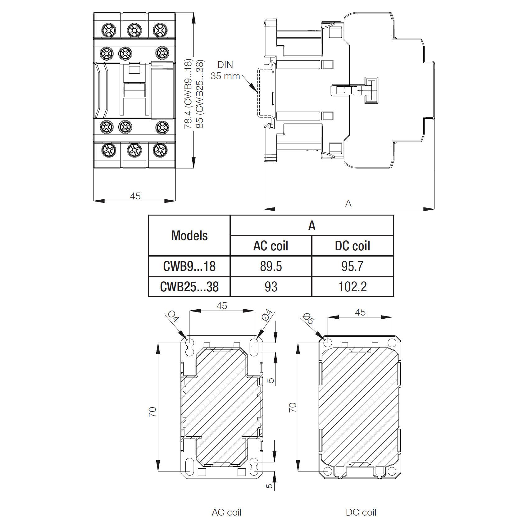 CWB9-11-30D15 WEG Low Voltage Contactor, 3-Pole, 9 Amp