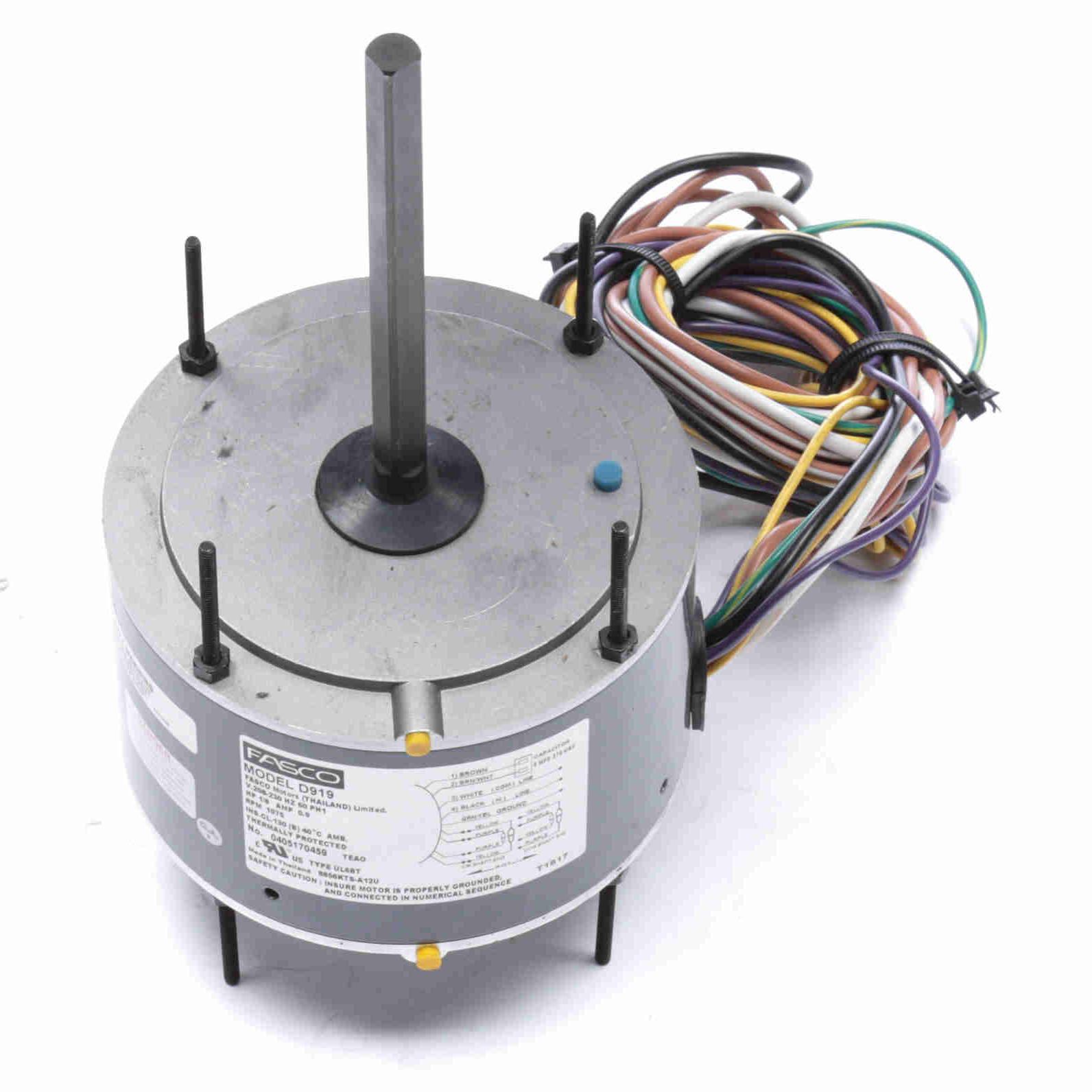 D919 Fasco 1  8hp Condenser Fan Electric Motor  1075rpm