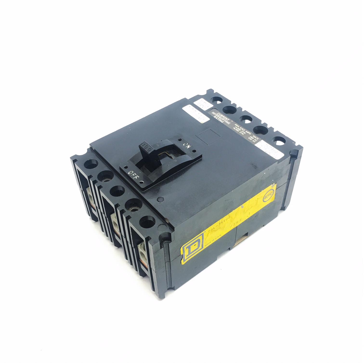 Square D Circuit Breaker FAL24100 2 Pole 100 Amp 480 Volt