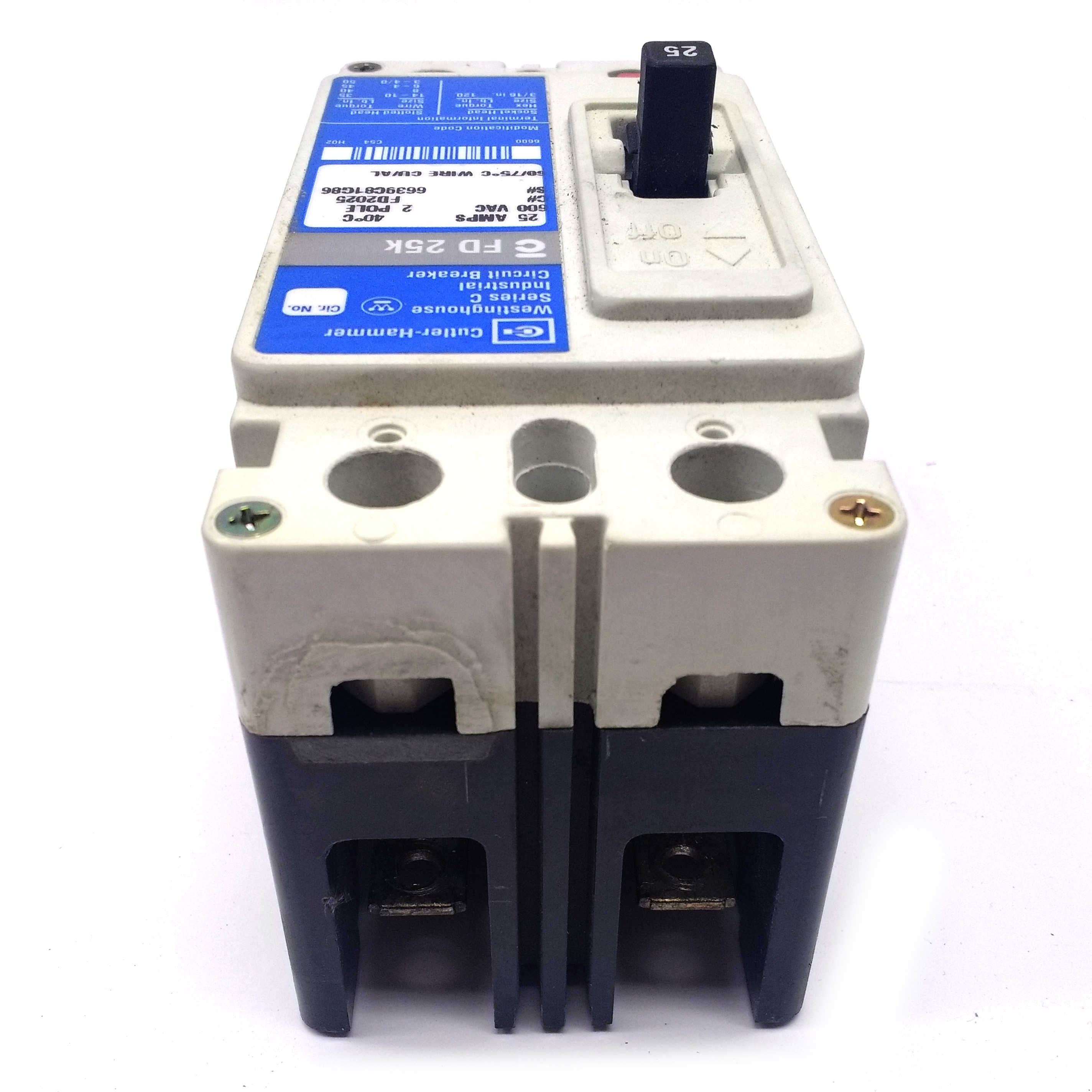 Fd2025 Cuttler Hammer Circuit Breaker 2 Pole 25a Counterfeit Eaton Molded Case Breakers Consumer Alert Click Image To Expand
