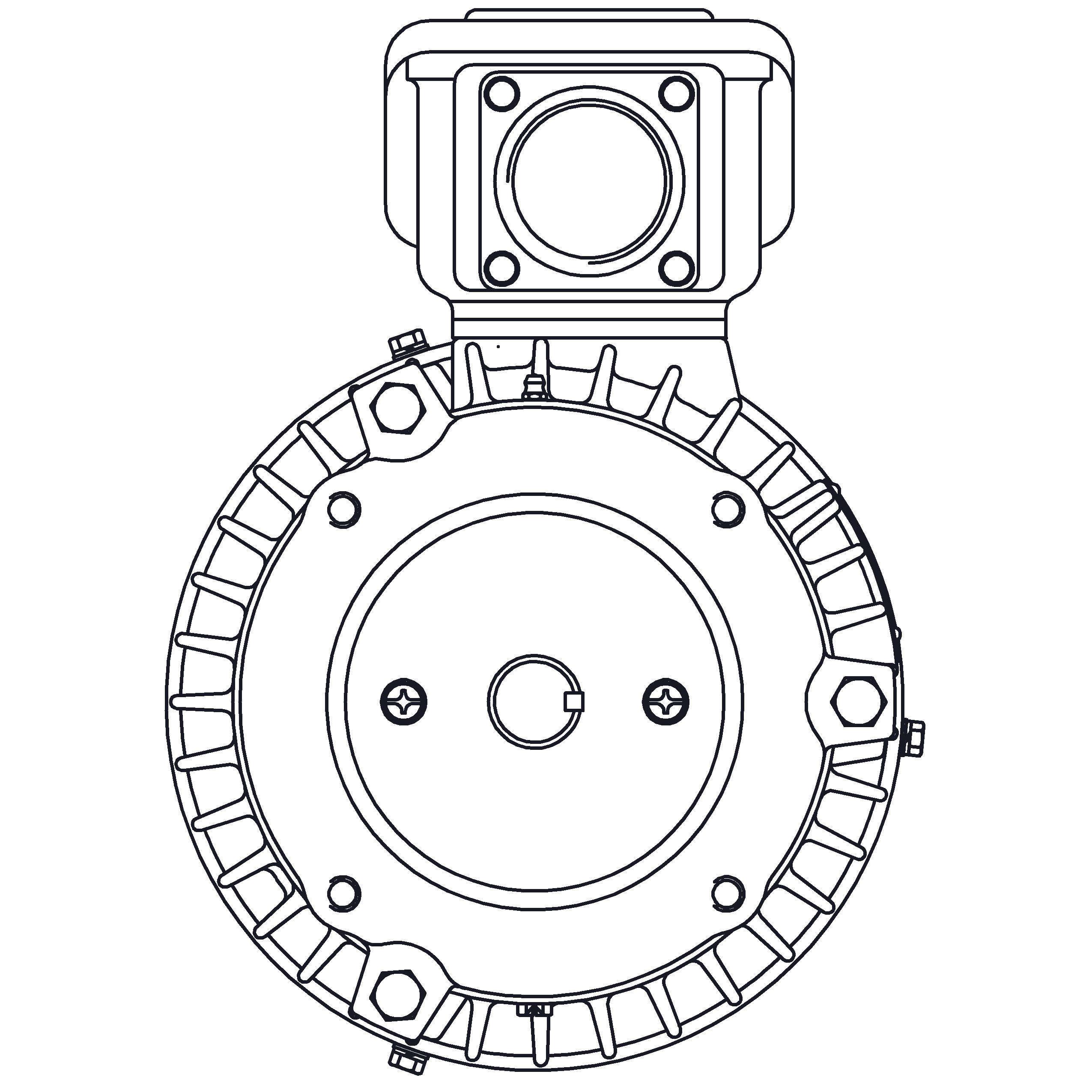 HBV0014C Teco-Westinghouse 1HP MAX-E2/841 Cast Iron