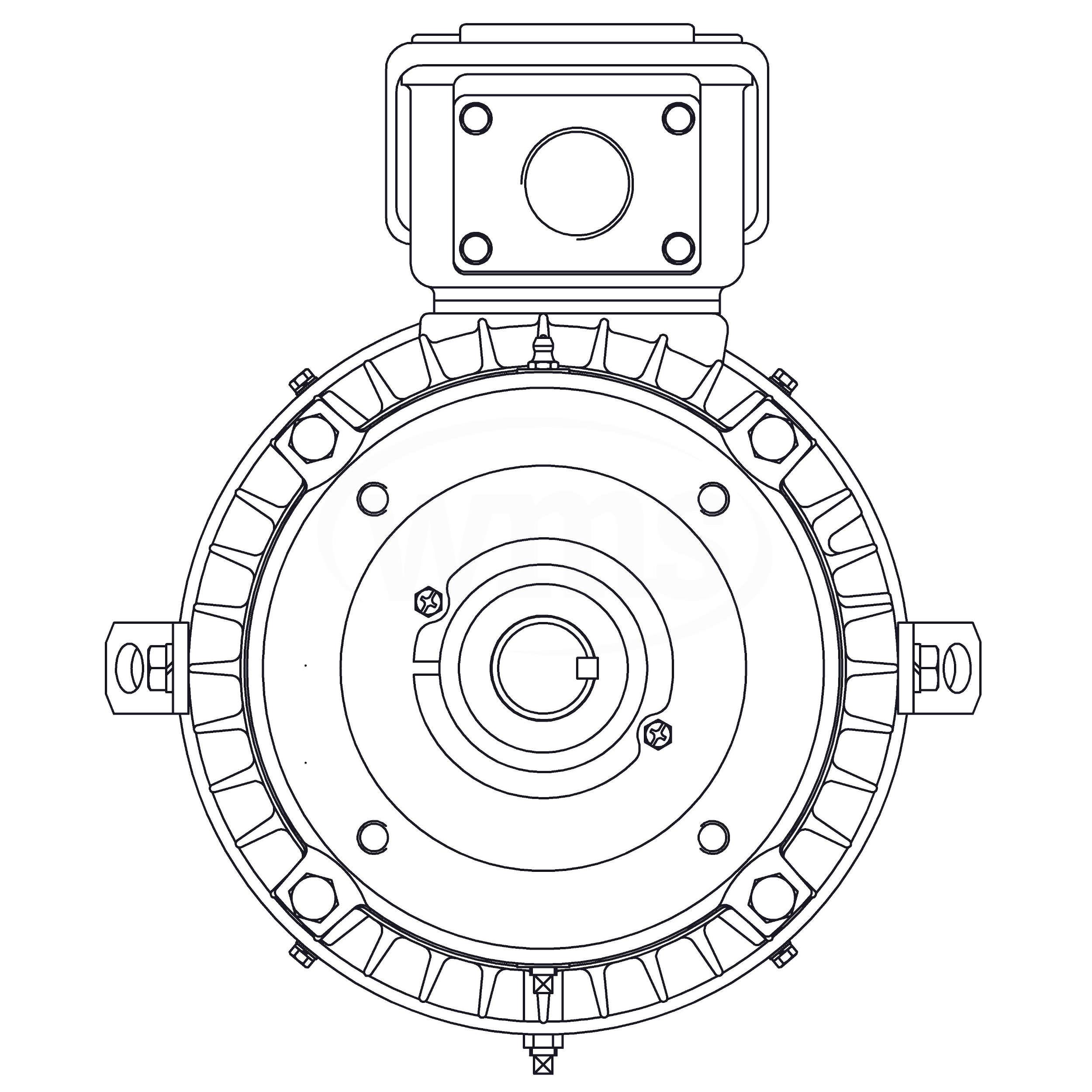 HBV0104C Teco-Westinghouse 10HP MAX-E2/841 Cast Iron