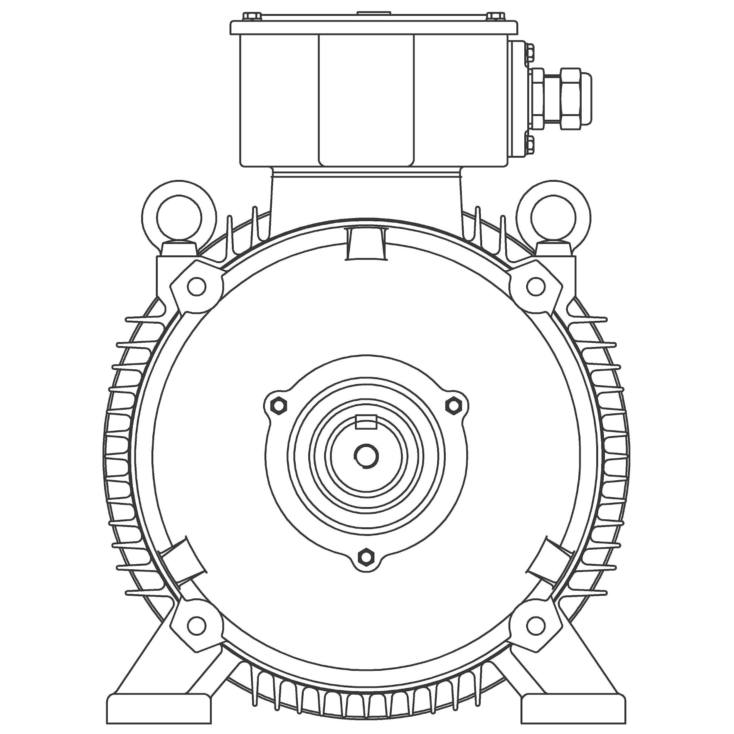 MP0254 Teco-Westinghouse 25HP/18.5kW MAX-IE3 IEC Metric