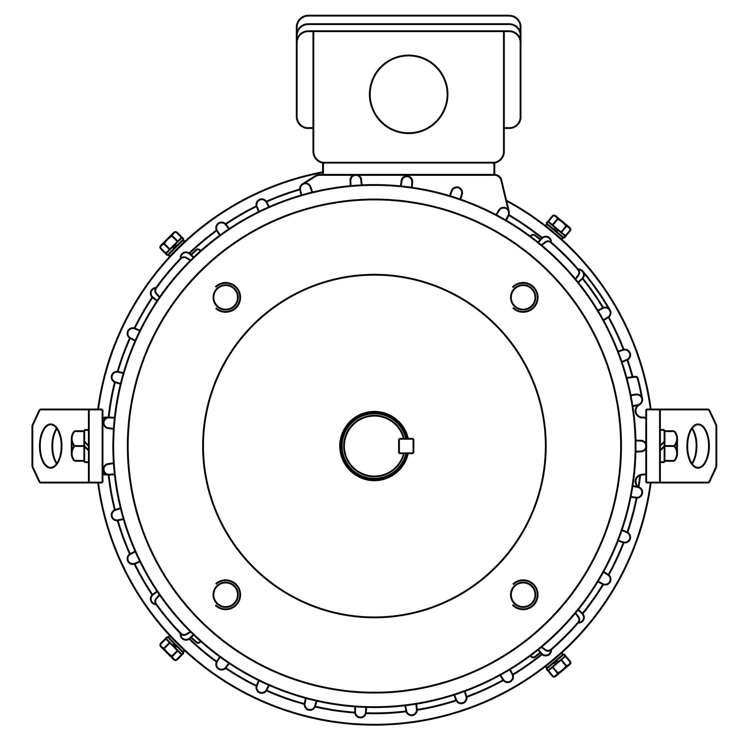 NPV0034C Teco-Westinghouse 3HP MAX-PE Cast Iron Electric