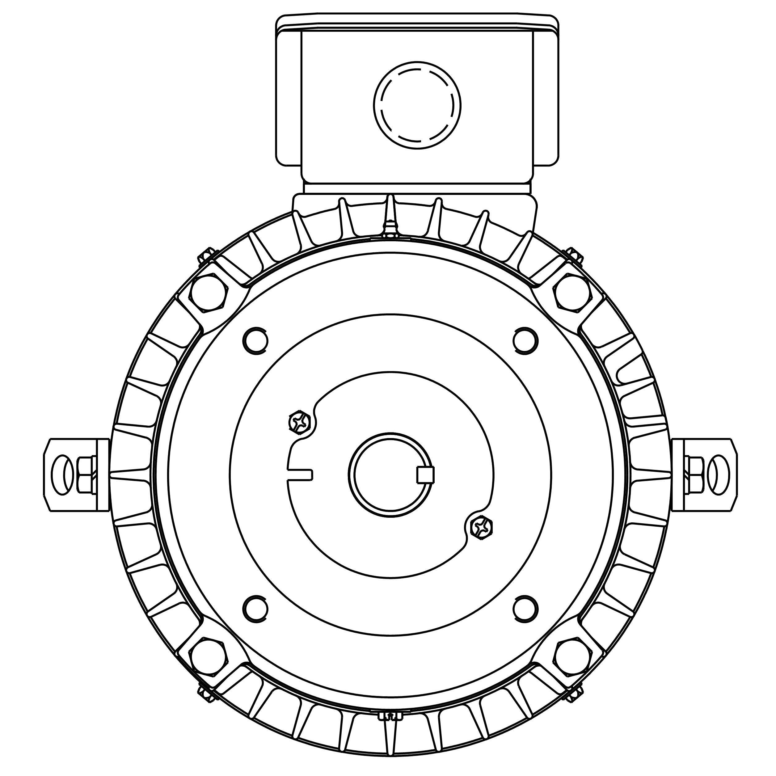 NPV0036C Teco-Westinghouse 3HP MAX-PE Cast Iron Electric