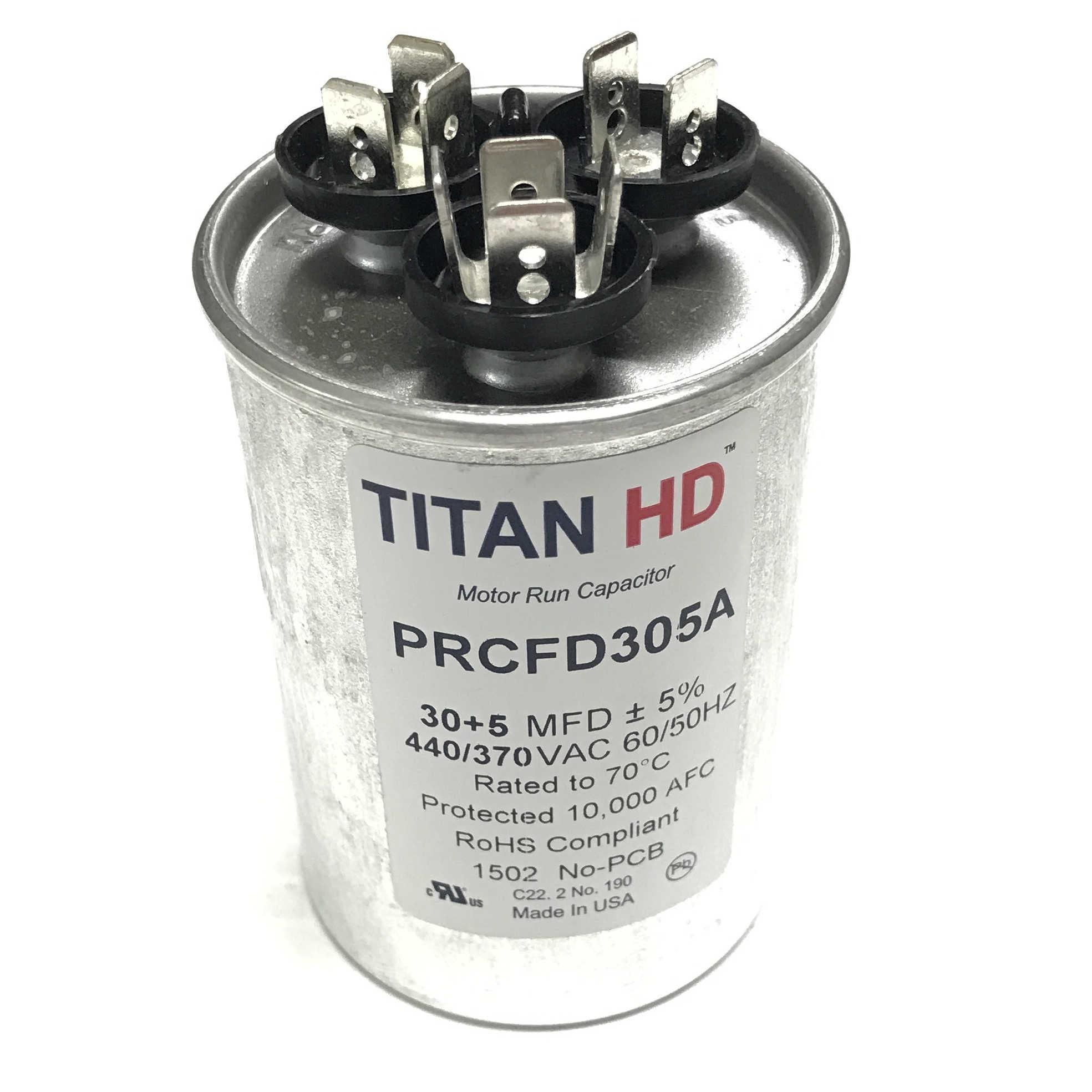 PRCFD305A 30+5 MFD Titan HD Run Capacitor