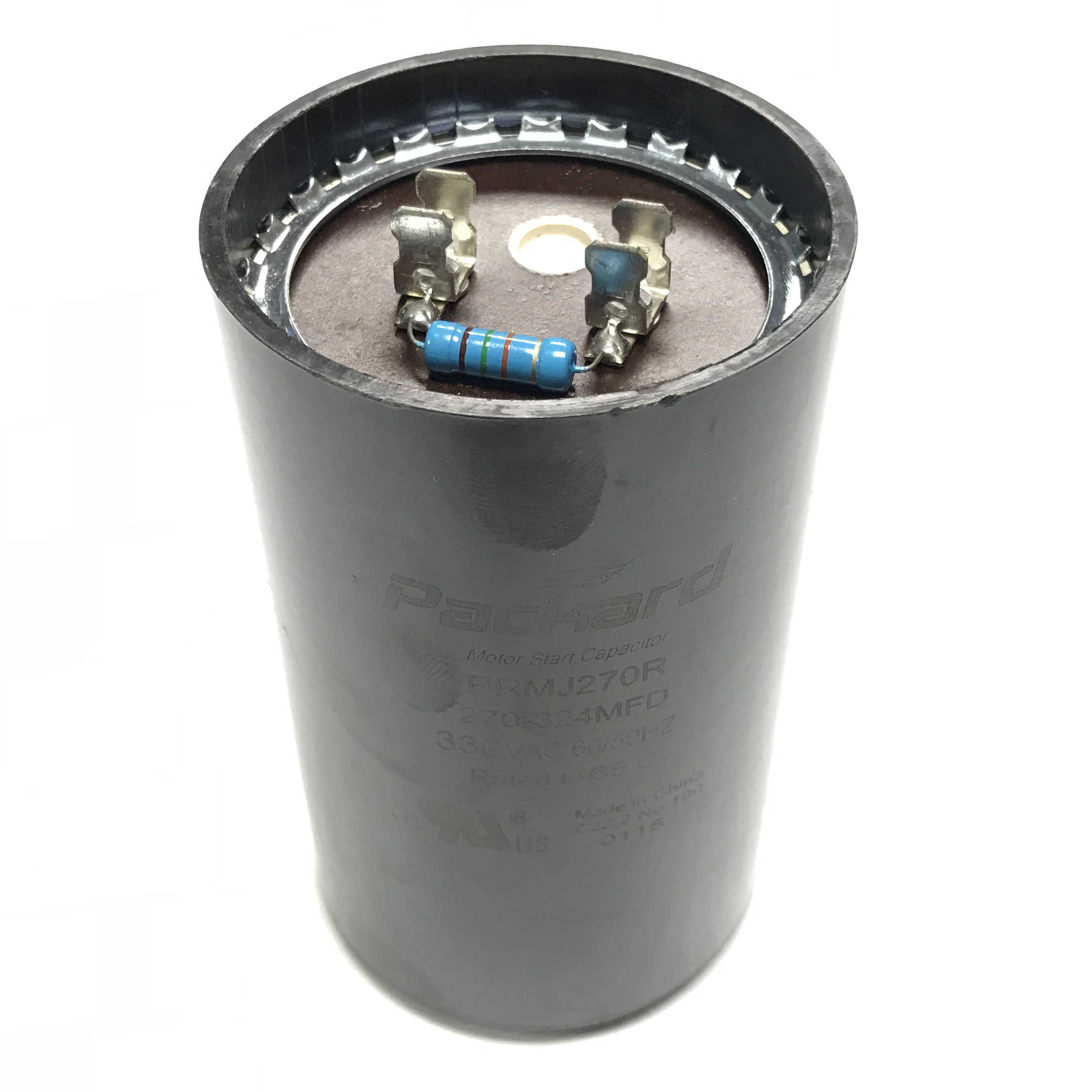 PRMJ270R Packard Start Capacitor, Mfd 270-324 uF