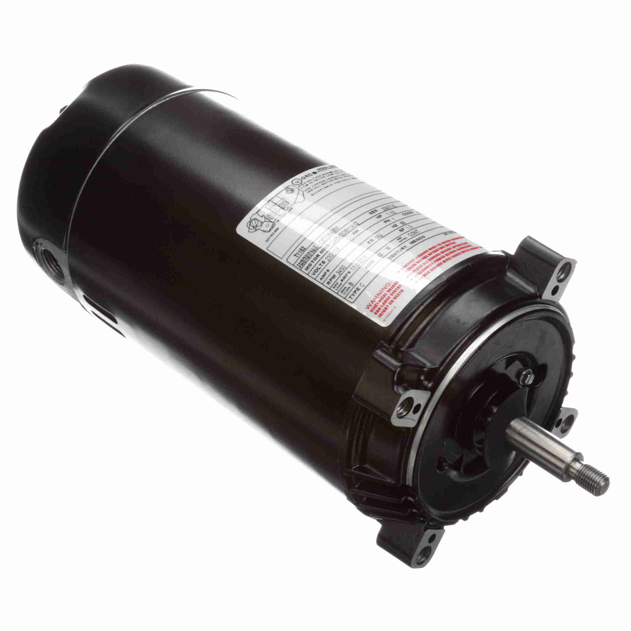 T1152 Century 1 5hp Pool Spa Pump Motor 3450 Rpm