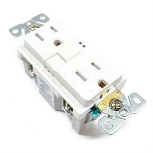 TRSGF15W Eaton GFCI Self-Test Receptacle, White
